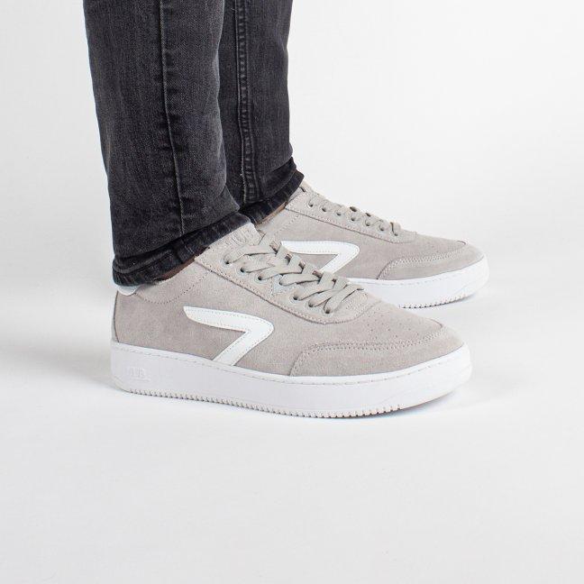 Baseline Z-stitch Suede Neutral Grey/White