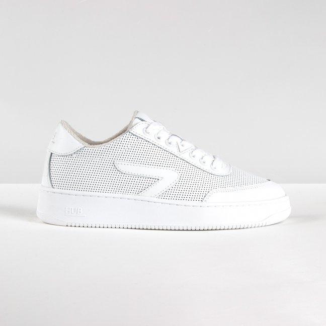 Baseline Z-stitch Perforated White/White