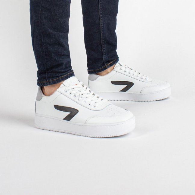 Baseline Z-stitch White/Dark Grey/White