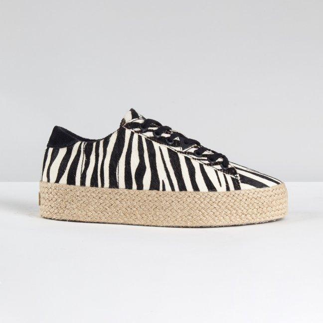 Hook Plateau Espadrille Zebra/Jute/Light Gum