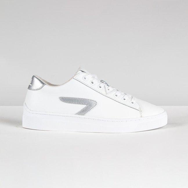 Hook Z-stitch White/Metallic Silver