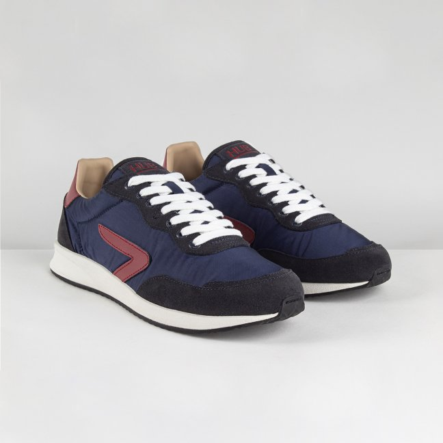 Line Z-stitch Navy/Gravel/Off White-Black